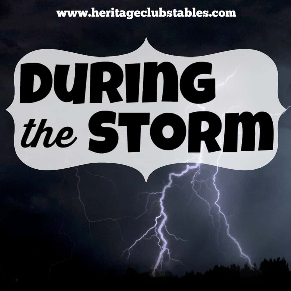 During the storm of life, how do you respond and how is your relationship with your Heavenly Father affected? Stand firm between the sheltering arms of God
