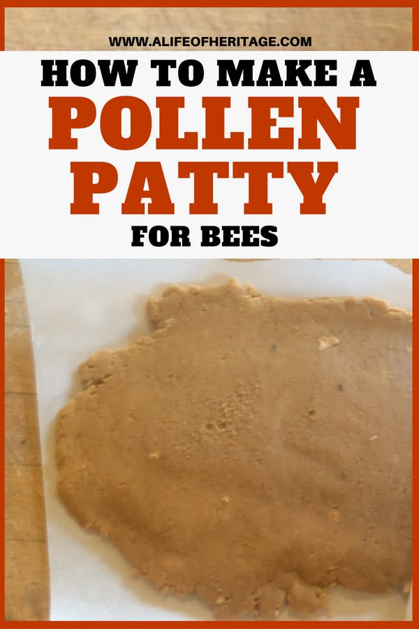 Bees may need their beekeeper to give them a boost of energy by making them a pollen patty. Here is how to make one!