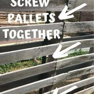 This is where you screw the pallet fence together