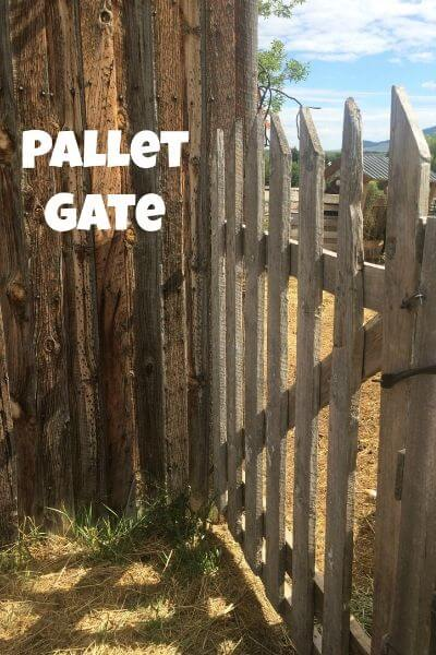 A gate made out of pallets