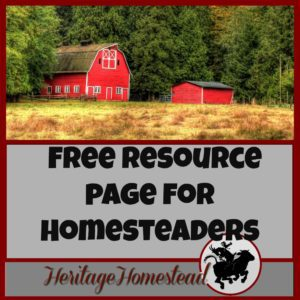 Free Resource Page for Homesteaders