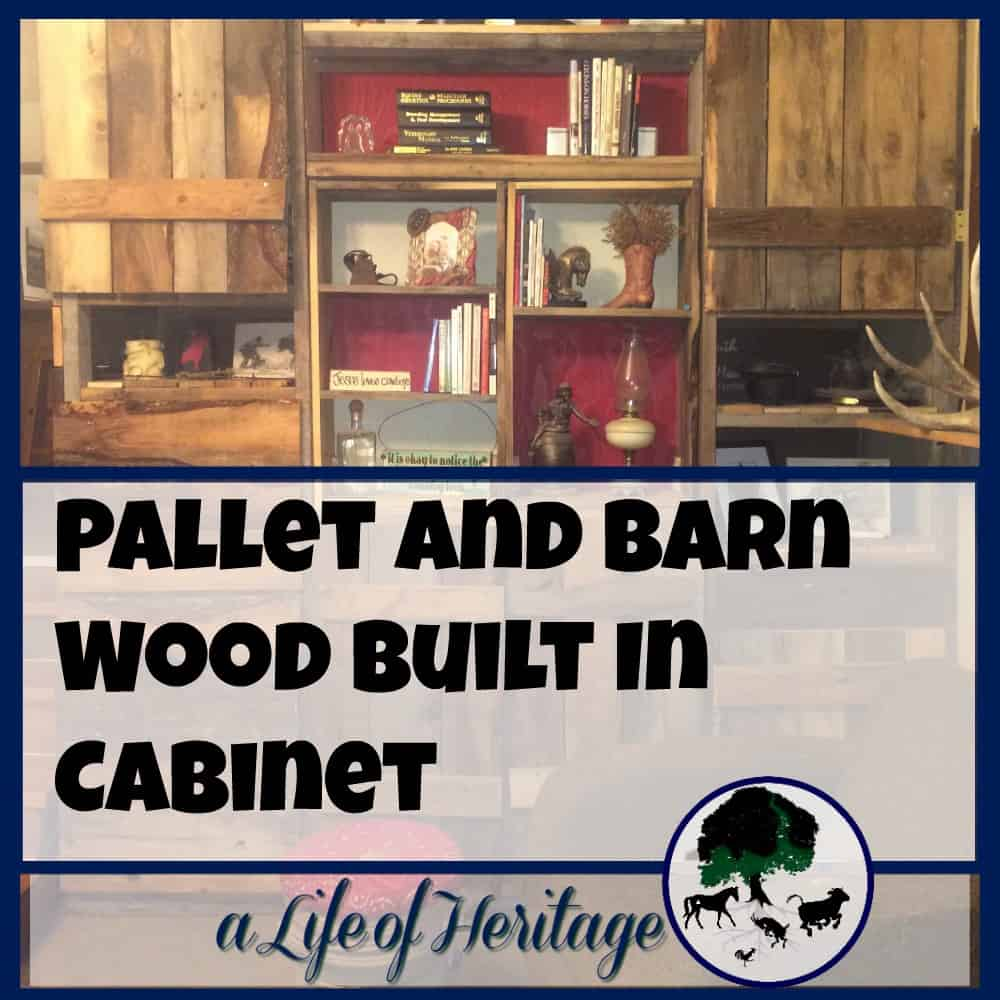 Pallet and Barn Wood Built In Cabinet