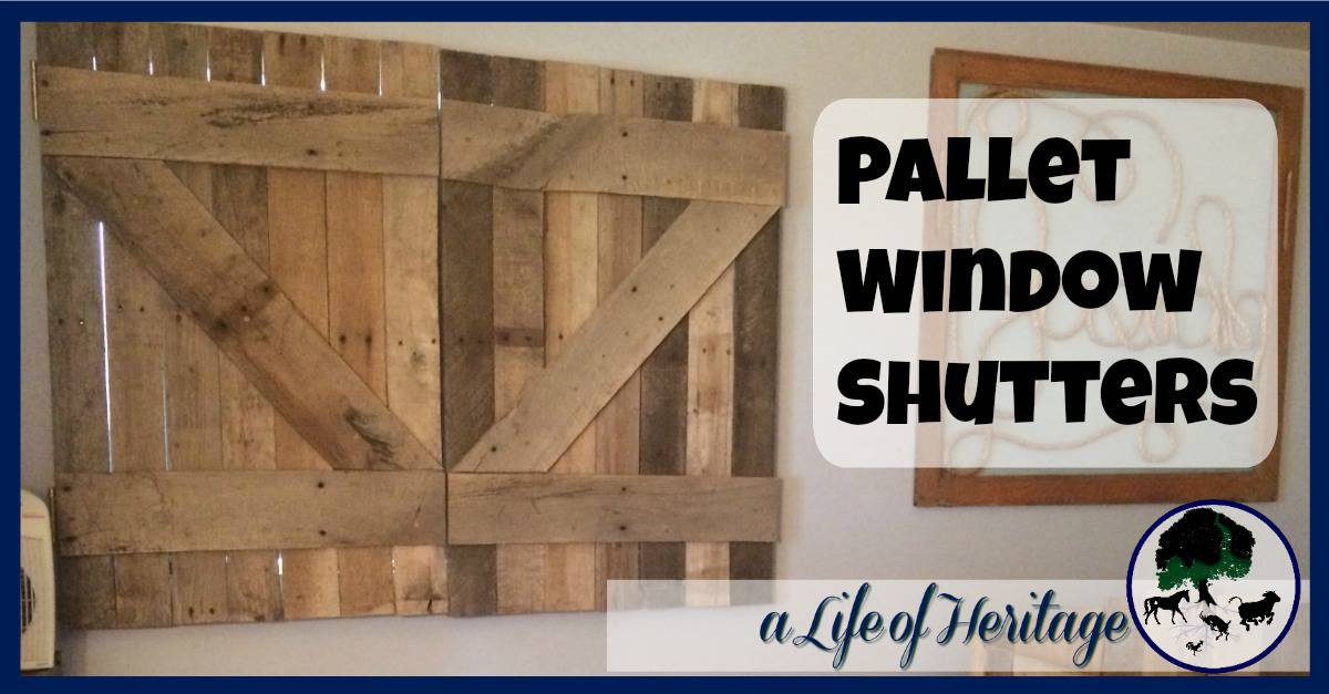 Pallet window shutters a life of heritage for How to make shutters from pallets