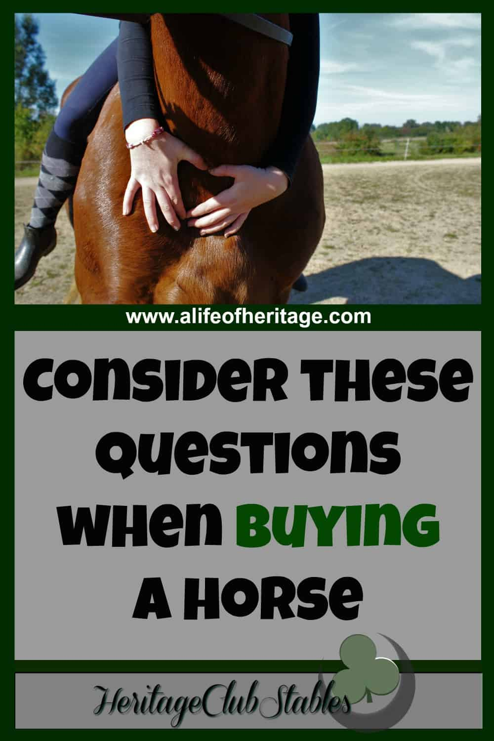 on buying a pony