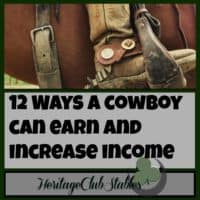 Cowboy | Cowboy Work | How to be a Cowboy | Cowboy Income | 12 ideas on how you can earn and increase income as a cowboy. Multiple streams of income for the average, day-working cowboy!
