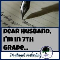 Purity | Dating and Engagement Ideas | Dear future husband: For a young girl or boy, writing a letter to their future spouse can keep their focus on what is truly important in this world of dating. Find out how and why you can encourage your children or young teens you know, to start writing to their future spouse.
