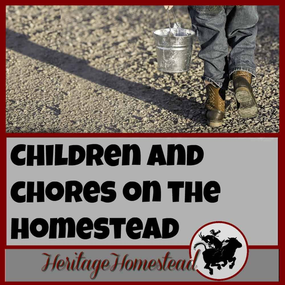Homesteading | Kids and Chores | Why should children be involved in the process of your homestead and all the chores involved? It is a questions worth exploring. You won't regret their help and they will thank you later! Free age appropriate chore chart
