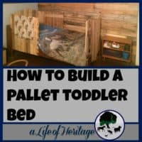 Pallets | Pallet Projects | Pallet Bed | Building with Pallets | An old bed can be transformed into a pallet toddler bed for a little cowboy's room with old pallets. Turn something old into something new and useful!