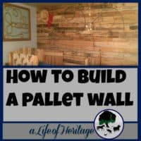 Pallets | Building with Pallets | Pallet Projects | Pallet Wall | A pallet wall designed to fit a little cowboy's dream! How to put together a pallet wall for any room in your house. Turn something old into something new!