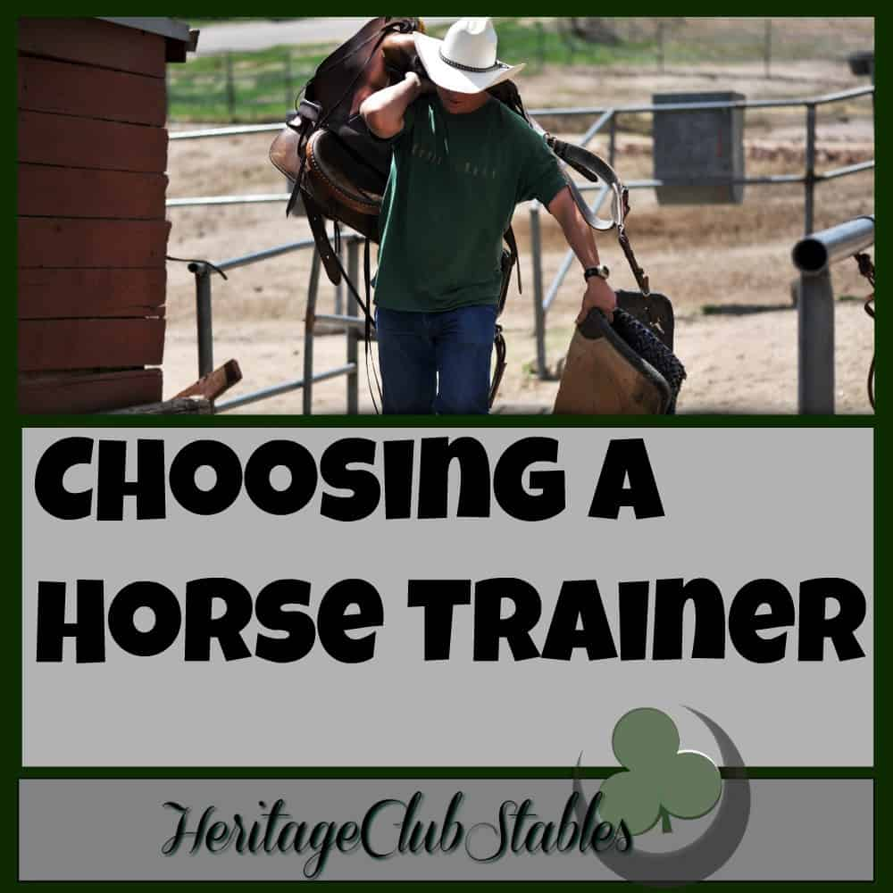 "Make ""Choosing a Horse Trainer"" EASY!"