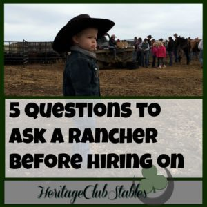 Cowboy lifestyle | New Ranch Job | Cowboy | Questions for your ranch boss | 5 questions to ask a rancher before hiring on. It's time to find the right job for you. You, cowboy, need to realize your worth!