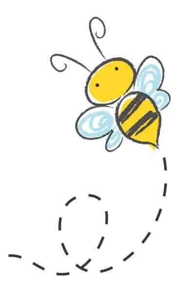 Bee buzzing around a flower!