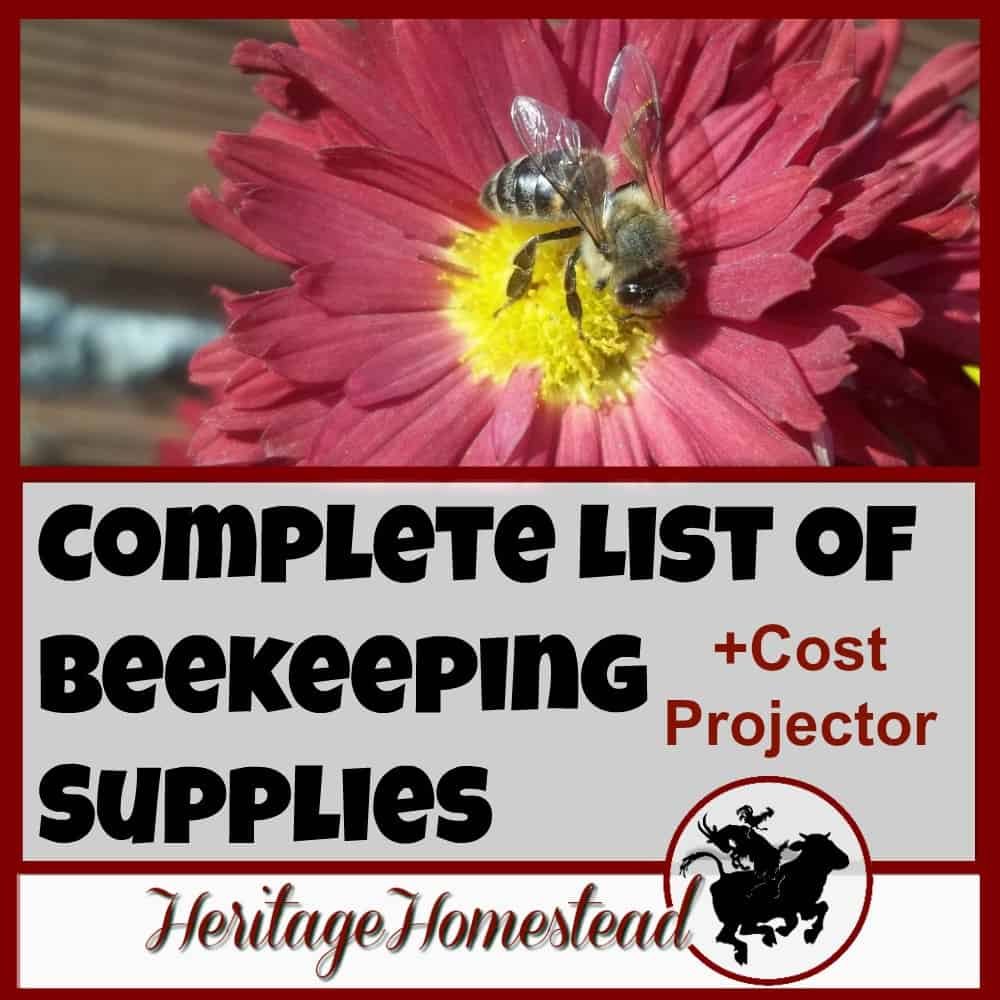 Complete List of Beekeeping Supplies