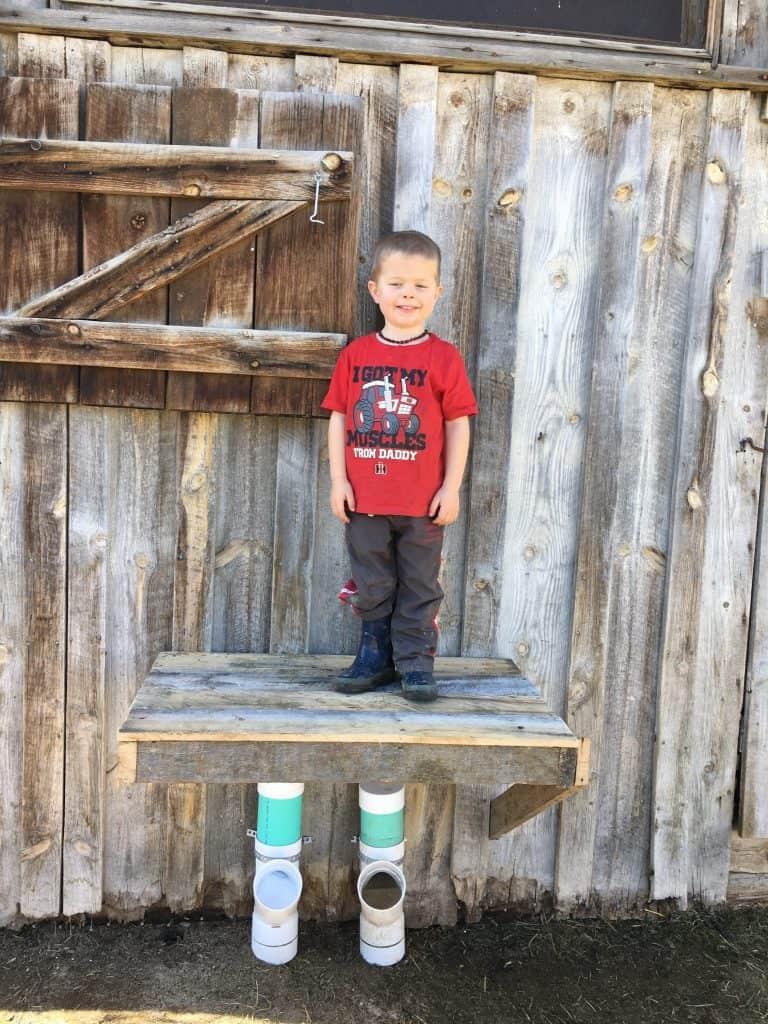 It's fun for kids to climb too!