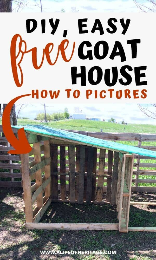 DIY, Pallet goat house is great for winters and keeping goats dry and warm!