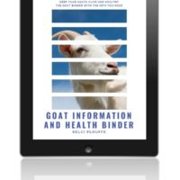 Goat Health and Information Binder