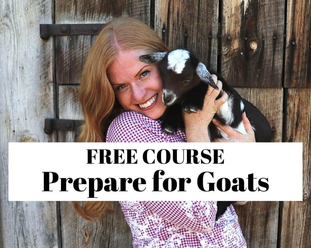 Prepare for goats